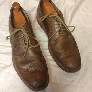 Cole Haan wingtip dress shoes brown leather 11.5